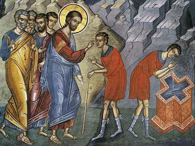 Об исцелении двух слепых и немого